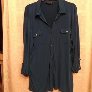 Jones New York turquoise blouse 2x